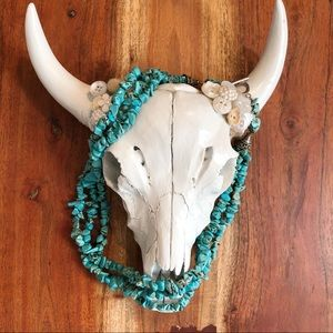 3 Strand Faux Turquoise Necklace.